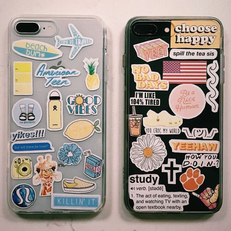 Creative and fun iphone cases with stickers!  – diy telefonkasten