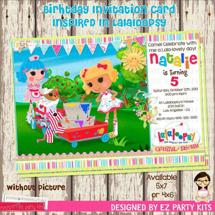 59 best Lalaloopsy images on Pinterest | Lalaloopsy party, Birthdays ...
