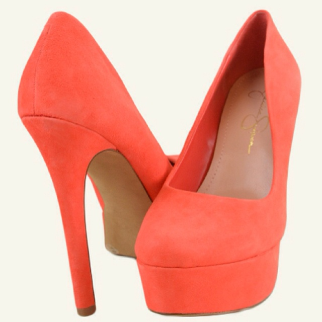 Salmon colored sooo cute   Coral shoes