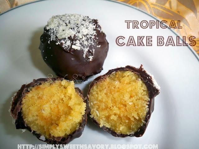 Tropical cake balls: Cakes Ballspop, Cakes Pop, Cake Ball, Mango Cakes, Cakes Rolls, Tropical Cakes, Coconut Cakes, Cakeballscontest Harvard, Yummy Cakes