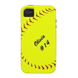 Softball name and number