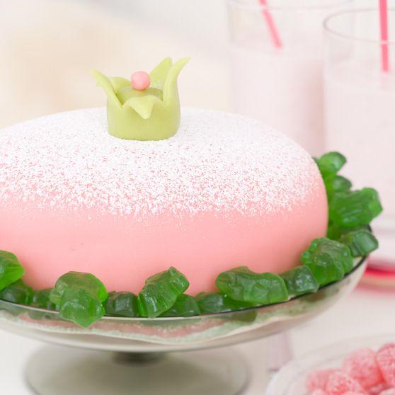 Vaaleanpunainen prinsessakakku - Reseptejä