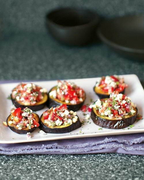 Berenjenas asadas con tomate y menta ¡!
