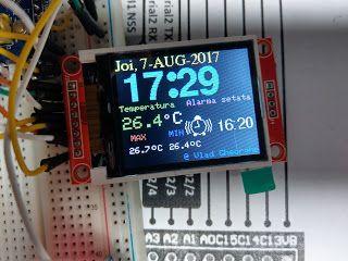 """alarm clock STM32F103C, ILI9341-2,8"""", DS18B20, DS3231"""