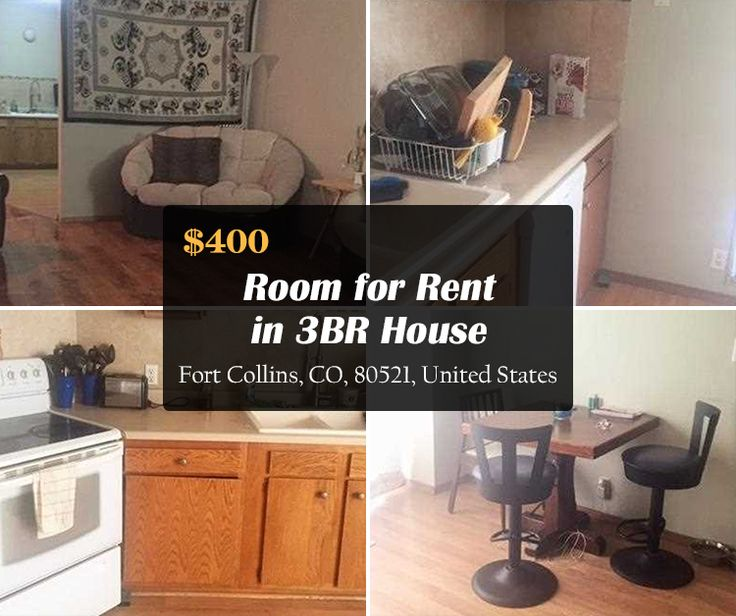 400 room for rent in 3br house april 1 fort collins