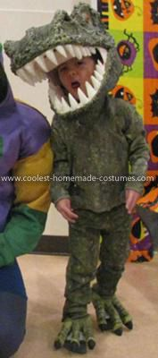 Coolest T-Rex Dinosaur Costume 20: My four-year-old son loves dinosaurs and wanted to be a T-Rex for Halloween 2011.  I constructed the T-Rex Dinosaur Costume in four components: head, tail,