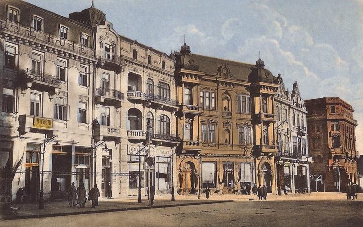 Constanta - Casele Torosian din piata Ovidiu,astazi nu mai exista - interbelica