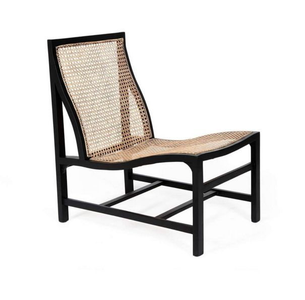 Black Grille Armless Chair by Becara
