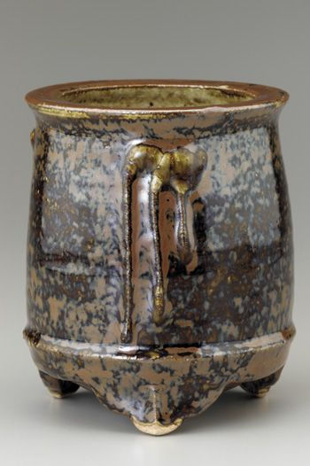 Brush stand  mid 1930s    Kawai Kanjiro , (Japanese, 1890-1966)   Showa era     Stoneware with iron glaze  W: 10.0 cm   Kyoto, Japan