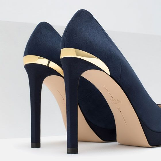 Image 5 of HIGH HEEL AND PLATFORM LEATHER SHOES from Zara