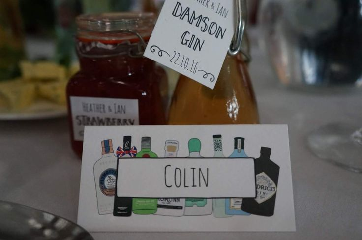 Gin and Jam Wedding Favours