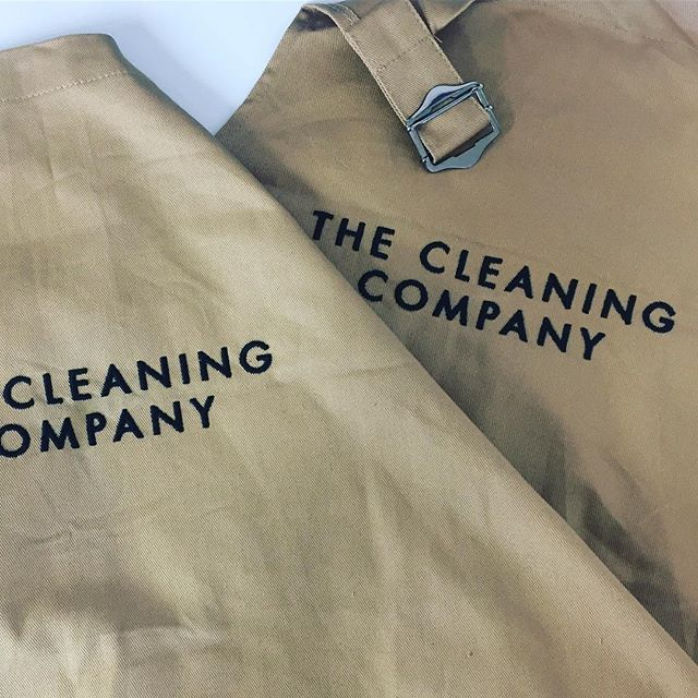 Aprons for The Cleaning Company Worcestershire - a new local business check them out for domestic cleaning services in Worcestershire! #aprons #personalised #embroidered #logo #branding #cleaning #cleaningcompany #tccworcestershire #embroidery #personalise #workwear #theprintlocker #createsomethingamazing #malvern #worcestershire