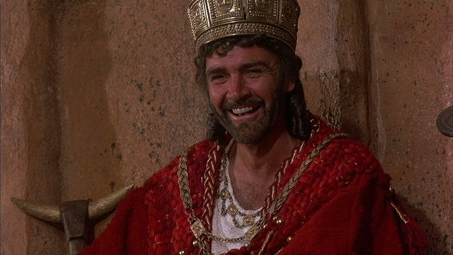 Sean Connery as Agamemnon, the Greek King.