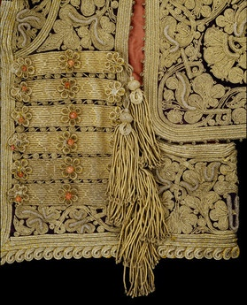 Women's Jacket Detail_1800-1900_Bosnia_Silk velvet, embroidered with metal thread_Berg Fashion Library