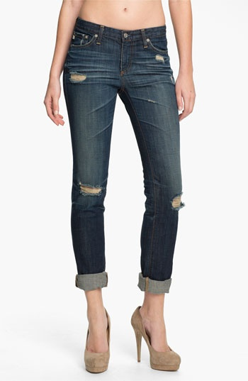 AG Jeans 'Stilt' Cigarette Leg Stretch Jeans (Seven Year Shred) available at Nordstrom