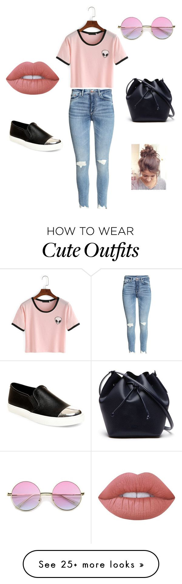 """morning outfit"" by sofiammm on Polyvore featuring Lacoste, Steve Madden and Lime Crime"