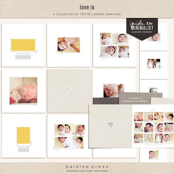 love is (layered template album) by paislee press at The Lilypad