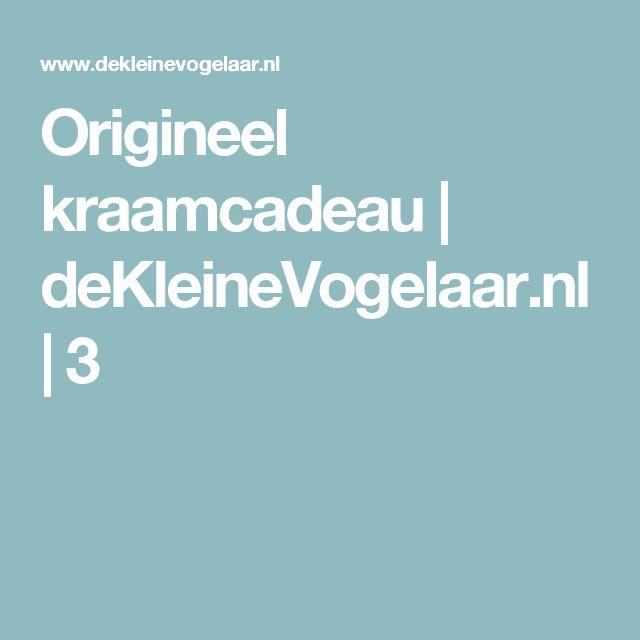Origineel kraamcadeau | deKleineVogelaar.nl | 3