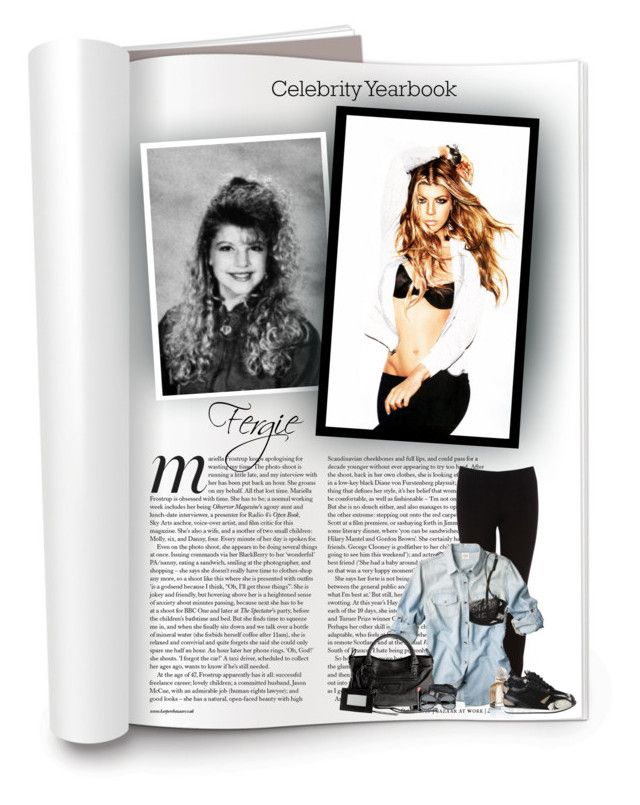 """""""Celebrity Yearbook: Fergie"""" by hollowpoint-smile ❤ liked on Polyvore featuring Oasis, La Perla, Balenciaga, Fergie, Beauty Is Life, yearbook, shirt, fergie, sunglasses and leggings"""