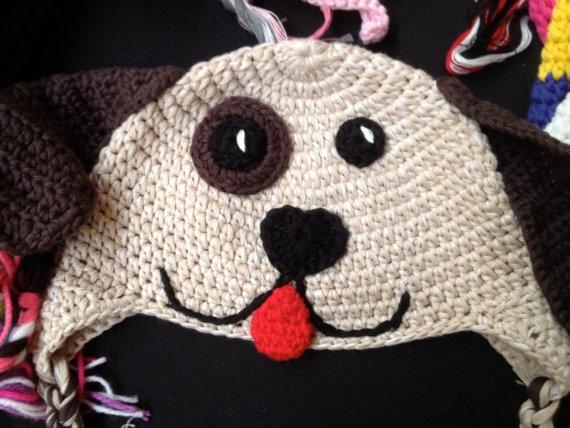 Crochet handmade animal hats pig panda rhino cow owl by SaraMolano, $15.00