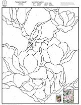Stained Glass Patterns for FREE 008 Springtime Magnolia