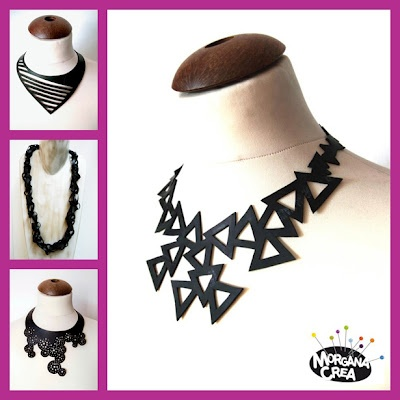 """Cool """"green"""" jewels by Morgana Crea, Turin - Italy.  Handmade with recycled inner tube."""