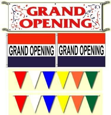 Grand Opening Package Banner Flag Pennants Streamers