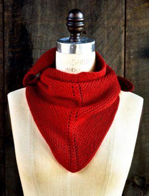 Dovetail Scarf   Purl Soho bellissima in rosso!   unfilodilana.com