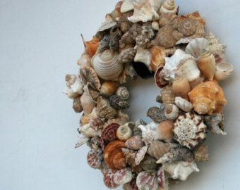 Sea Shell Wreath Shabby Chic Cottage Wreath by donnahubbard