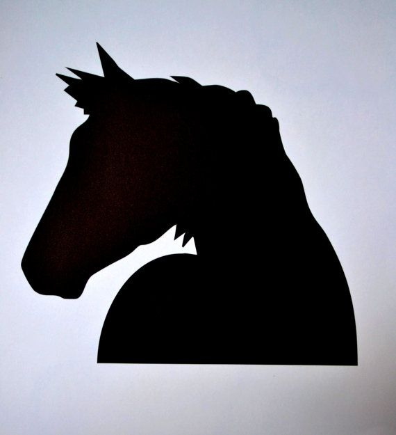 Horse silhouette by displayitwithvinyl on Etsy, $15.00