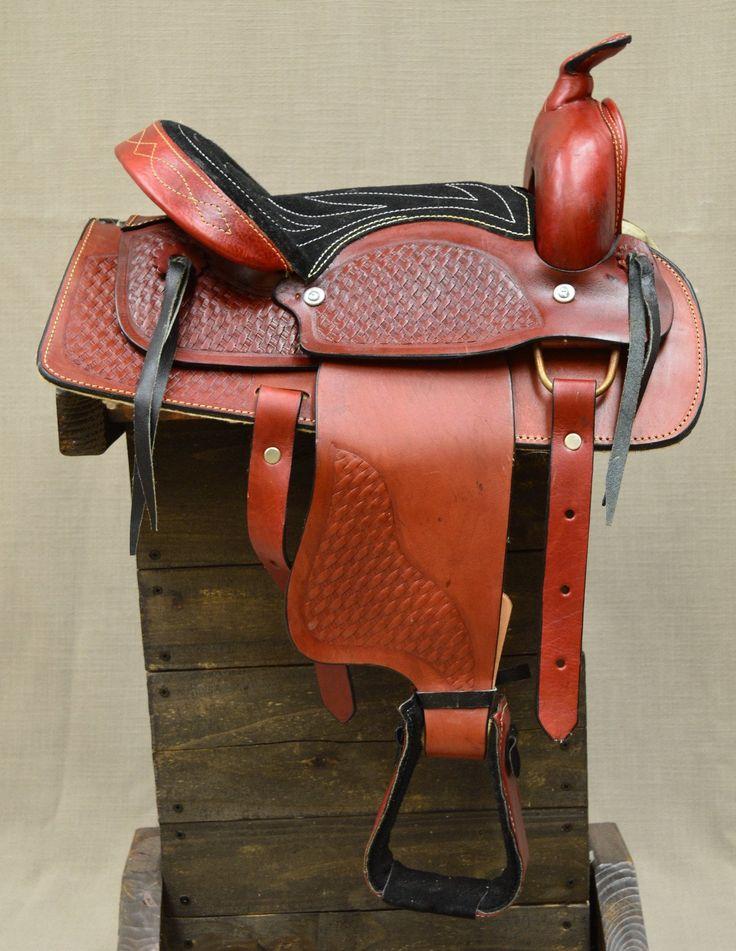 """12"""" Burgundy Pony Saddle"""