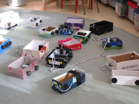 how to make a car out of a shoebox