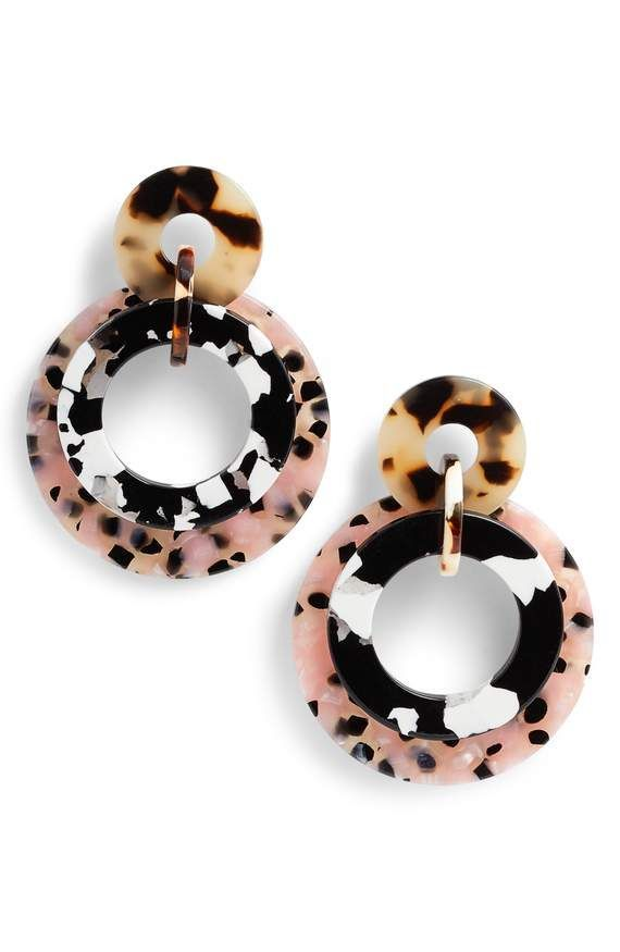 Structured Statement Earrings | Big Multi Colour Earrings | Artistic Style |   H...