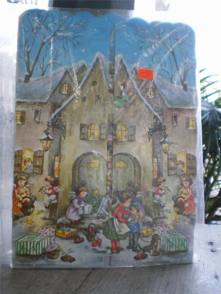 NIP VTG West Germany KORSCH VERLAG CHRISTMAS Tri-Fold  Advent Calendar #KorschVerlag