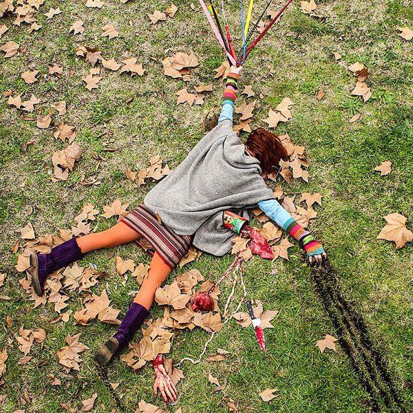 Falling Down for Art's Sake   Hint Fashion Magazine