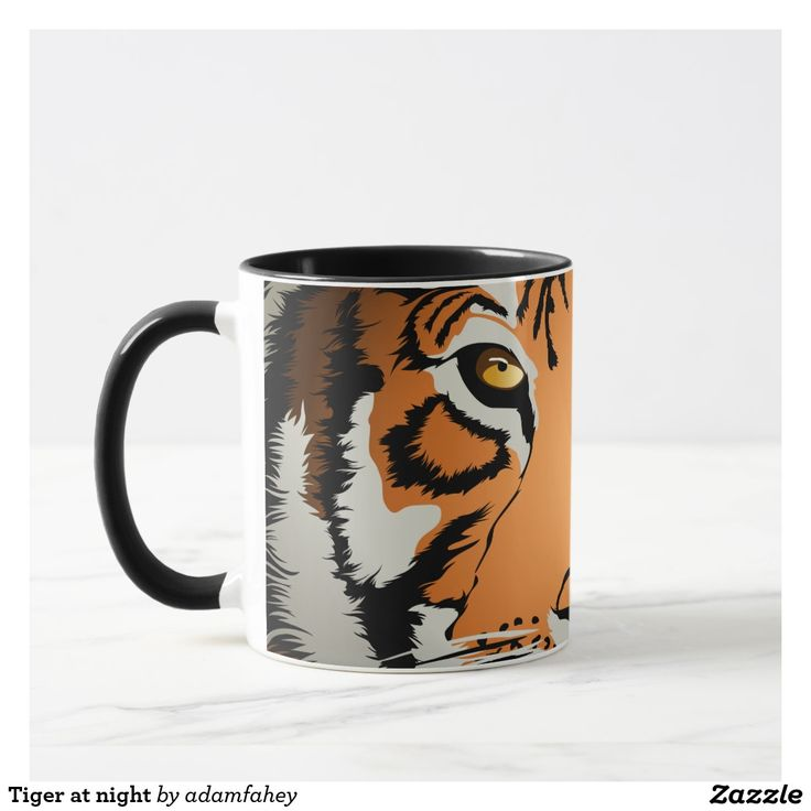 Tiger at night mug