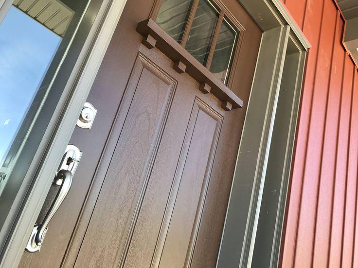 Front door hand painted with Benjamin Moore Grand Entrance satin.