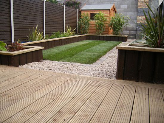 decking and grass london - Google Search