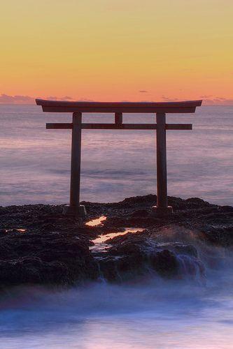 oarai-isosakijinja #ibaraki kamiiso torii, Japan