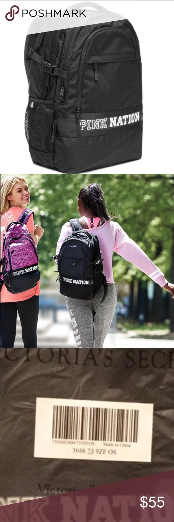 🌟BRAND NEW🌟 PINK NATION COLLEGIATE BACKPACK BLK Brand New  Authentic  No Tags Inside Online Packaging  Fees Included in price  Look at pictures please If you need additional pictures let me know 🚫NO TRADES🚫 🚫No Shipping on the Weekends🚫 Serious Buyers Only  THANK YOU PINK Victoria's Secret Bags Backpacks