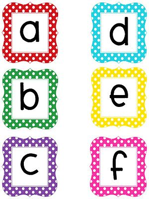 Multi-colored printable letters