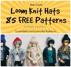 Free Loom Knit Hat Patterns - New count is 85 !