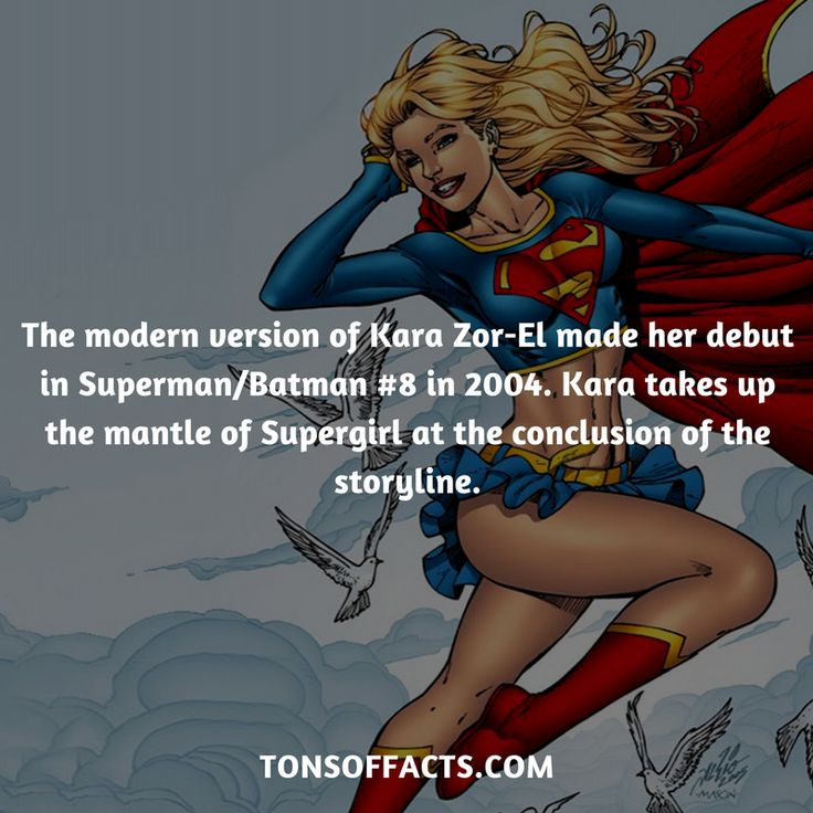 The modern version of Kara Zor-El made her debut in Superman/Batman #8 in 2004. Kara takes up the mantle of Supergirl at the conclusion of the storyline. #supergirl #tvshow #justiceleague #comics #dccomics #interesting #fact #facts #trivia #superheroes #memes #1 #movies #superman