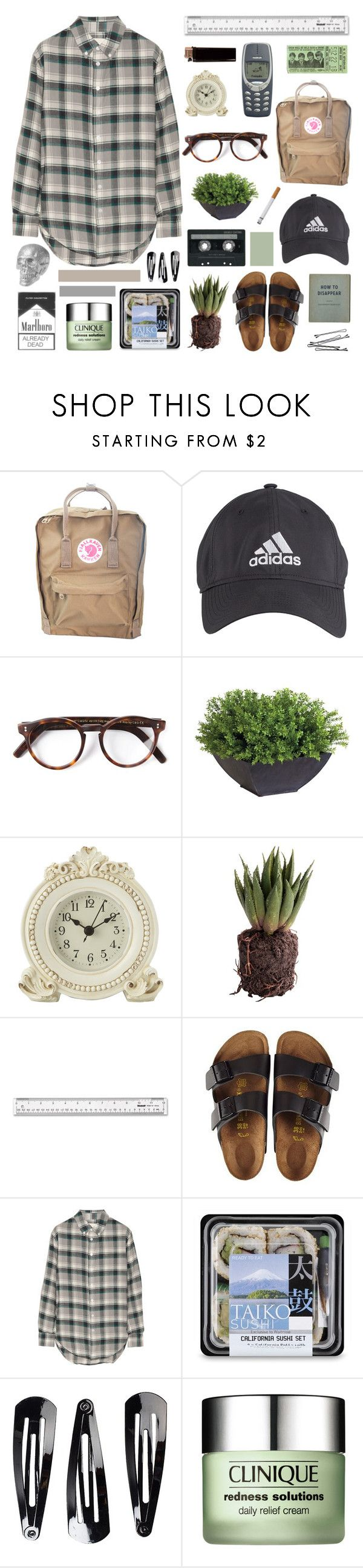 """uncover / zara larsson"" by jpnefn ❤ liked on Polyvore featuring Fjällräven, adidas, Cutler and Gross, Ethan Allen, Laura Ashley, CASSETTE, Birkenstock, BOBBY, Band of Outsiders and NLY Accessories"