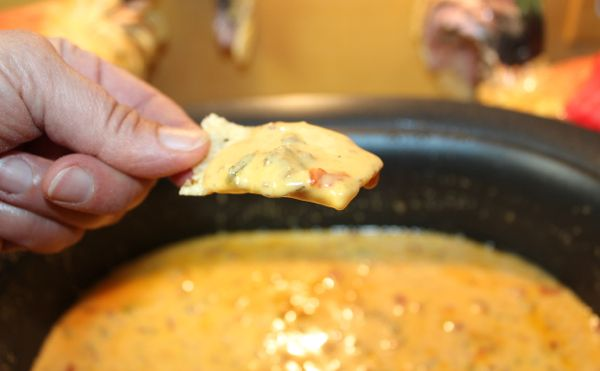 Rotel Sausage Dip…3 ingredients…pure yumminess!