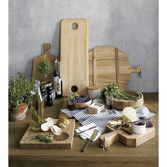 Oak Board with Handle in Specialty Serveware | Crate and Barrel