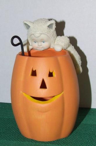 Snowbabies Purr-fect Pumpkin
