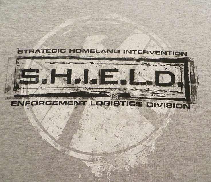 Marvel Agents of S.H.I.E.L.D. Stamp Logo T-Shirt - New- SHIELD Tee