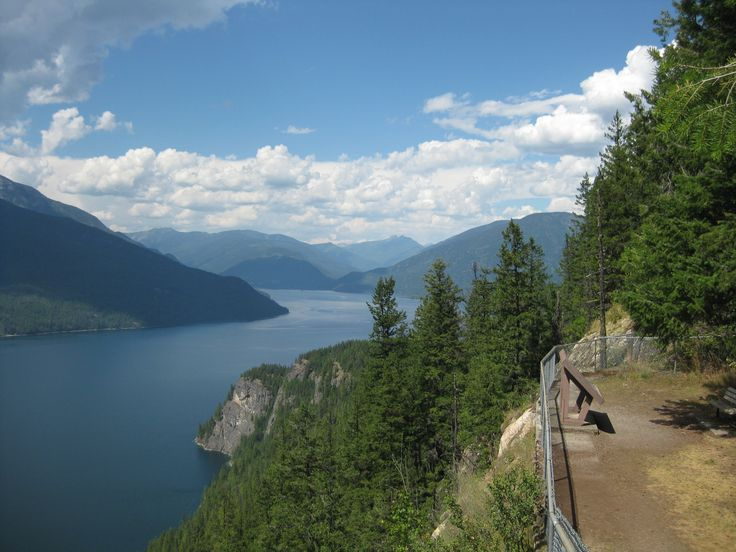 Lookout/Rest Area near New Denver, BC. Great Views of Slocan Lake