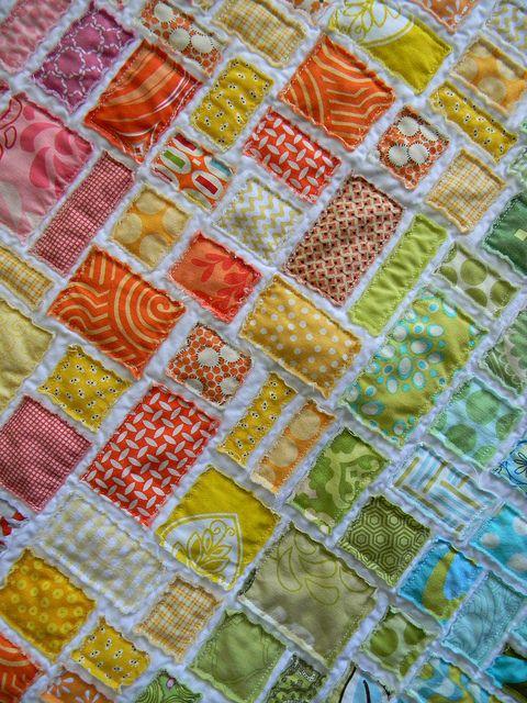 Waaaaay beyond my capabilities, but beautifuly. tickertape baby quilt by teaginny